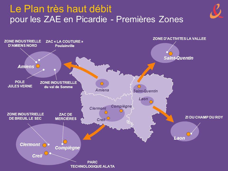 Le Plan très haut débit pour les ZAE en Picardie - Premières Zones