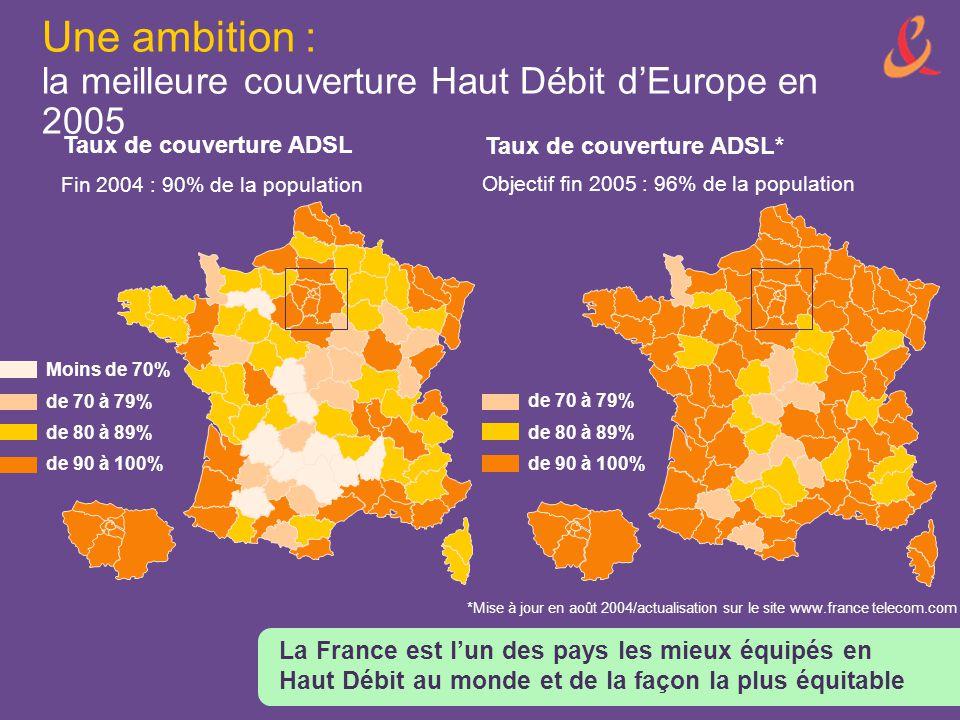 Une ambition : la meilleure couverture Haut Débit d'Europe en 2005