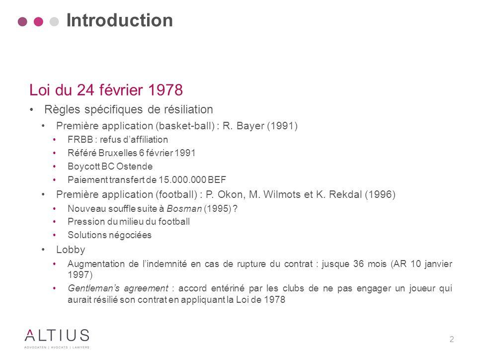 Introduction Loi du 24 février 1978 Mais encore…