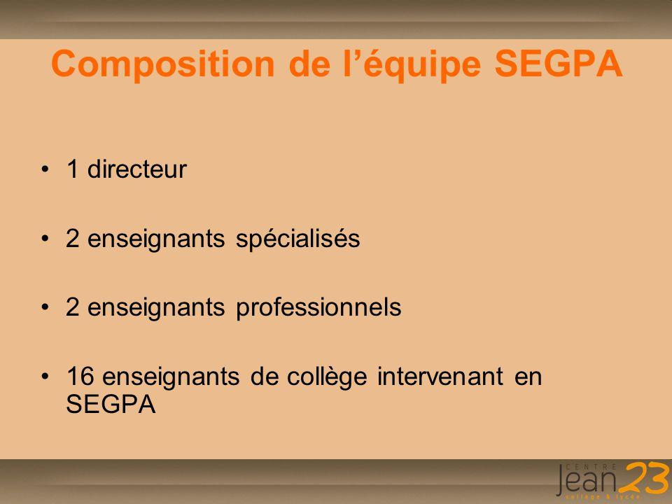 Composition de l'équipe SEGPA