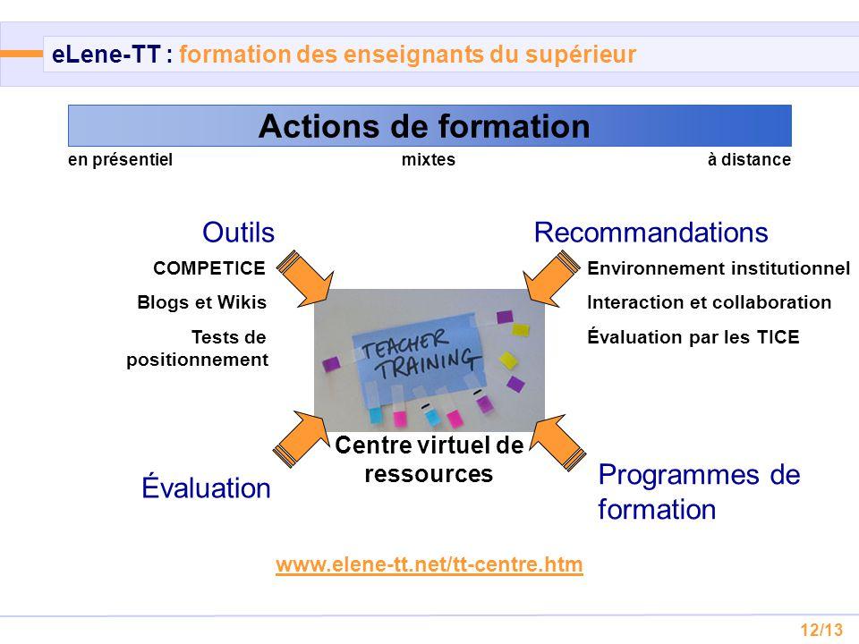 eLene-TT : formation des enseignants du supérieur
