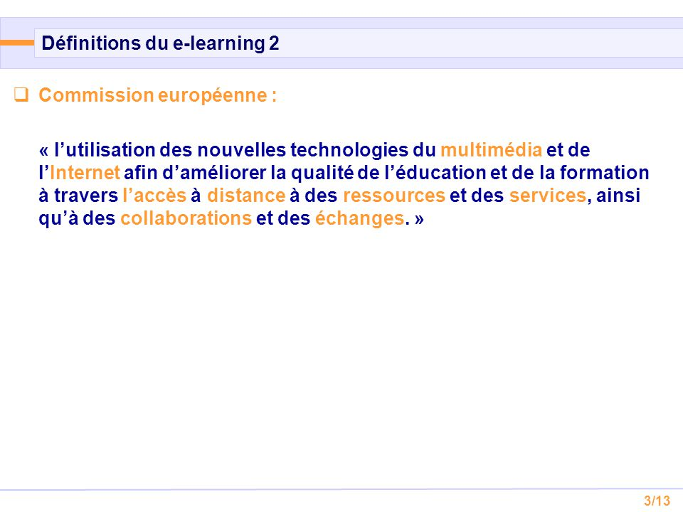 Définitions du e-learning 2