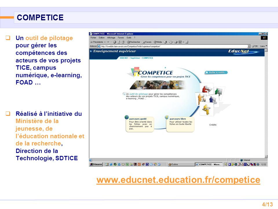www.educnet.education.fr/competice COMPETICE