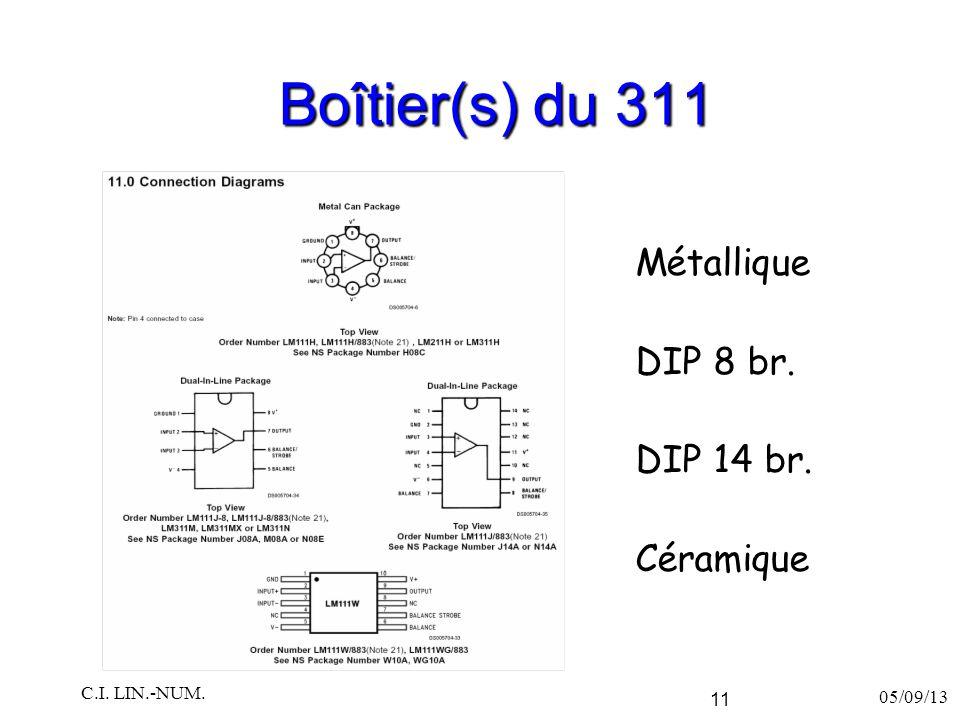 Boîtier(s) du 311 Métallique DIP 8 br. DIP 14 br. Céramique