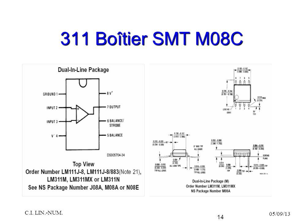 311 Boîtier SMT M08C C.I. LIN.-NUM. 05/09/13