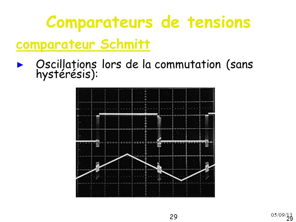 Comparateurs de tensions