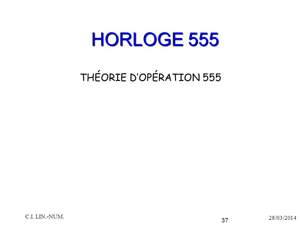 HORLOGE 555 THÉORIE D'OPÉRATION 555 C.I. LIN.-NUM. 28/03/2014