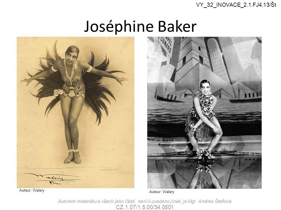 Joséphine Baker VY_32_INOVACE_2.1.FJ4.13/Št CZ.1.07/1.5.00/34.0501