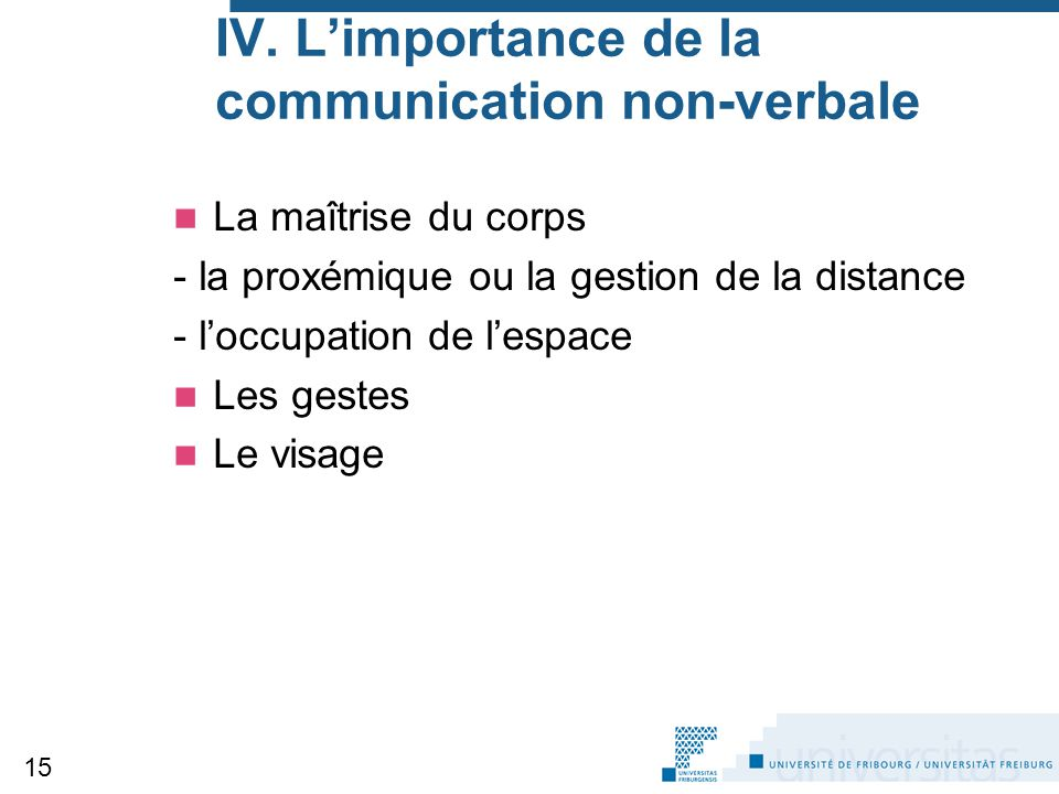 IV. L'importance de la communication non-verbale