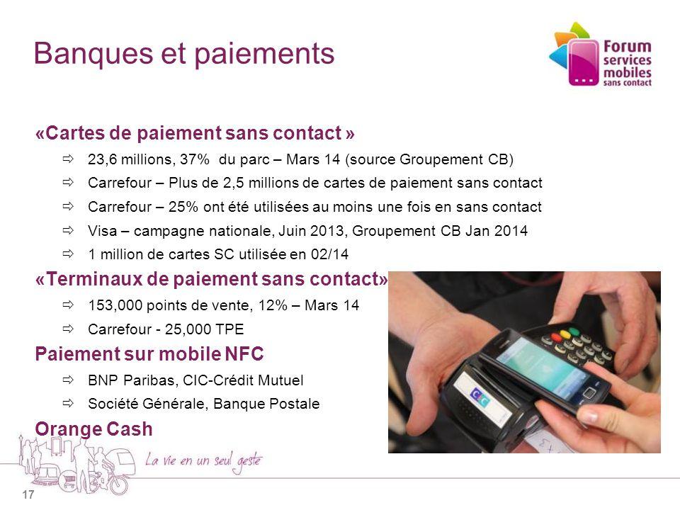 Banques et paiements «Cartes de paiement sans contact »