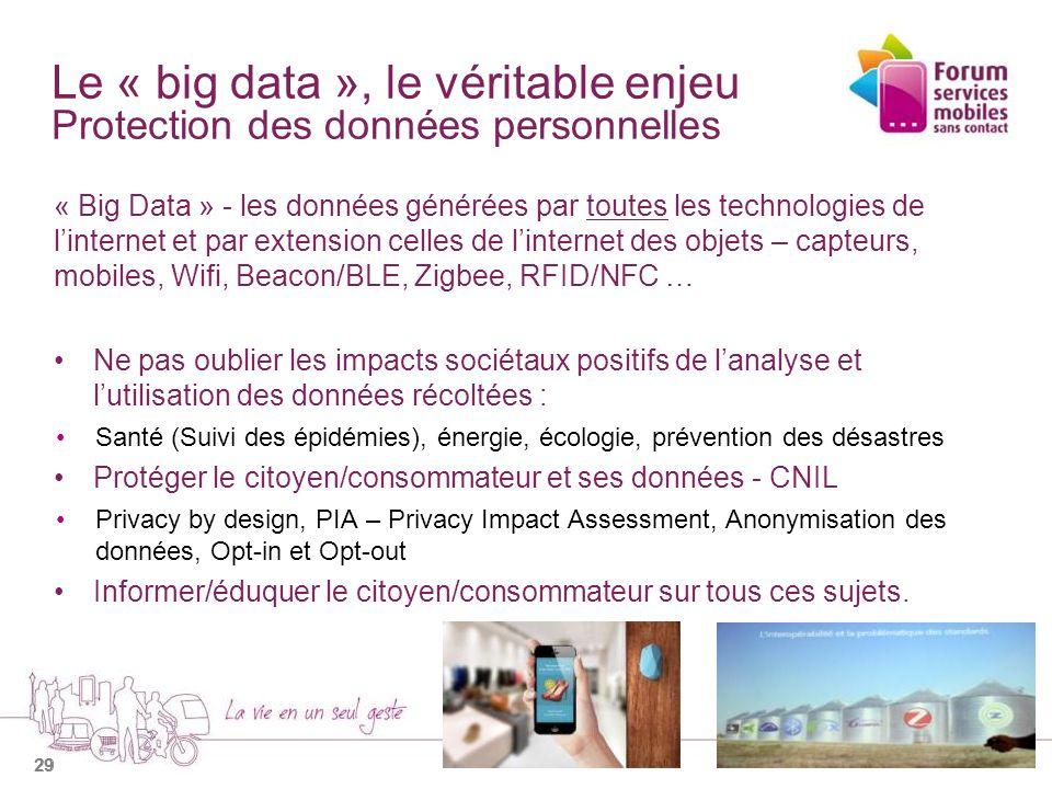 Le « big data », le véritable enjeu Protection des données personnelles