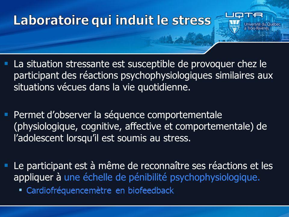 Laboratoire qui induit le stress