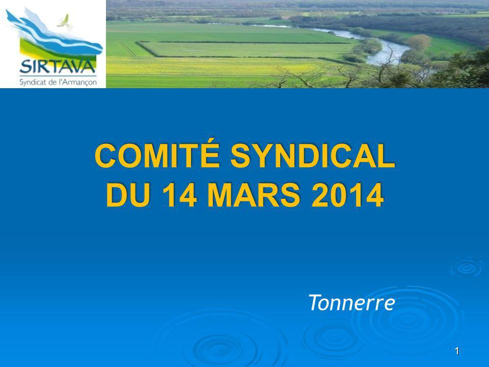 Comité syndical du 14 MARS 2014