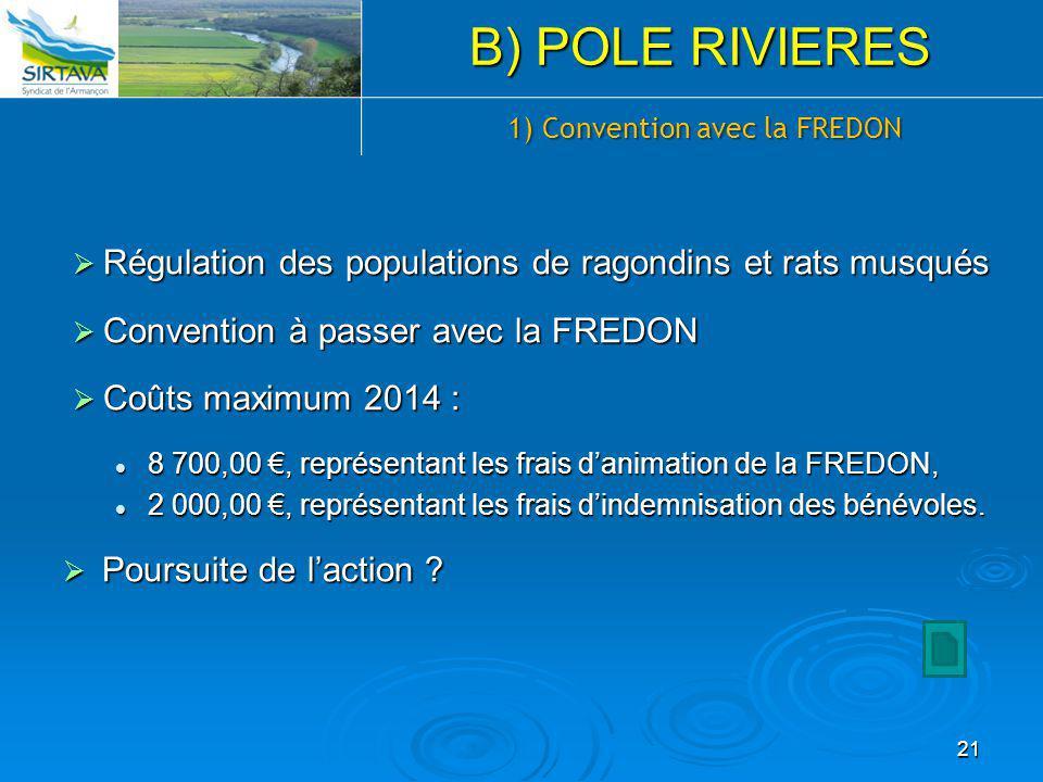 1) Convention avec la FREDON