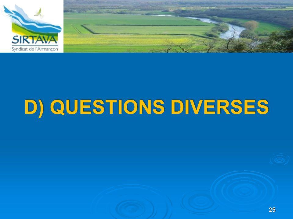D) Questions diverses