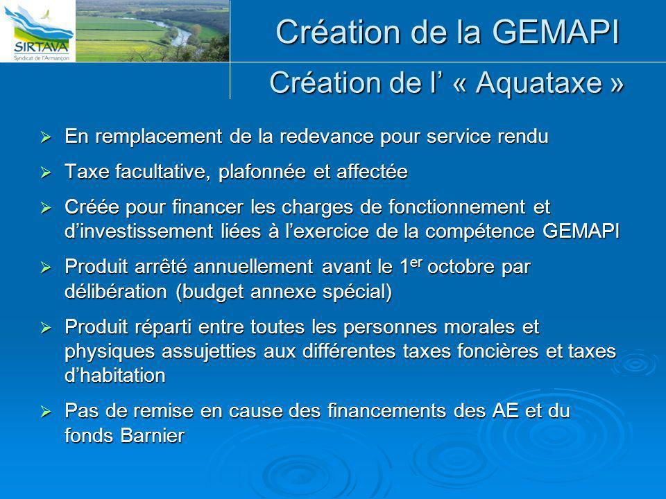 Création de l' « Aquataxe »