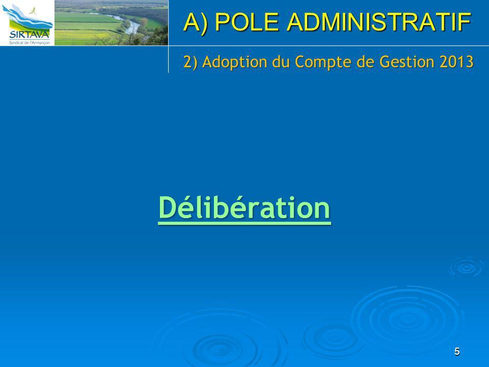 2) Adoption du Compte de Gestion 2013