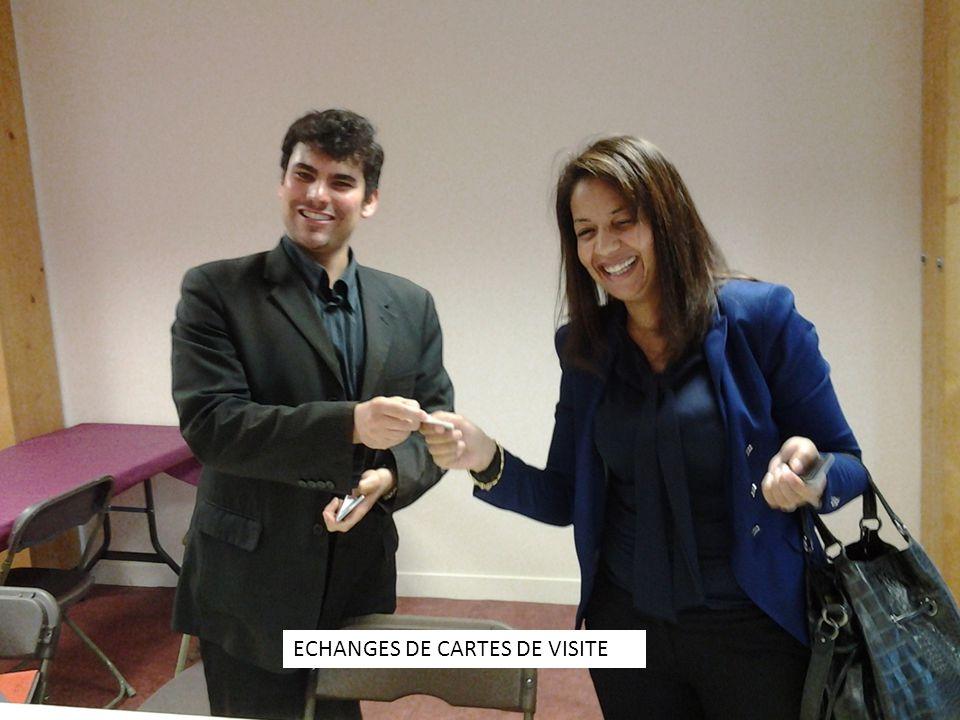 ECHANGES DE CARTES DE VISITE