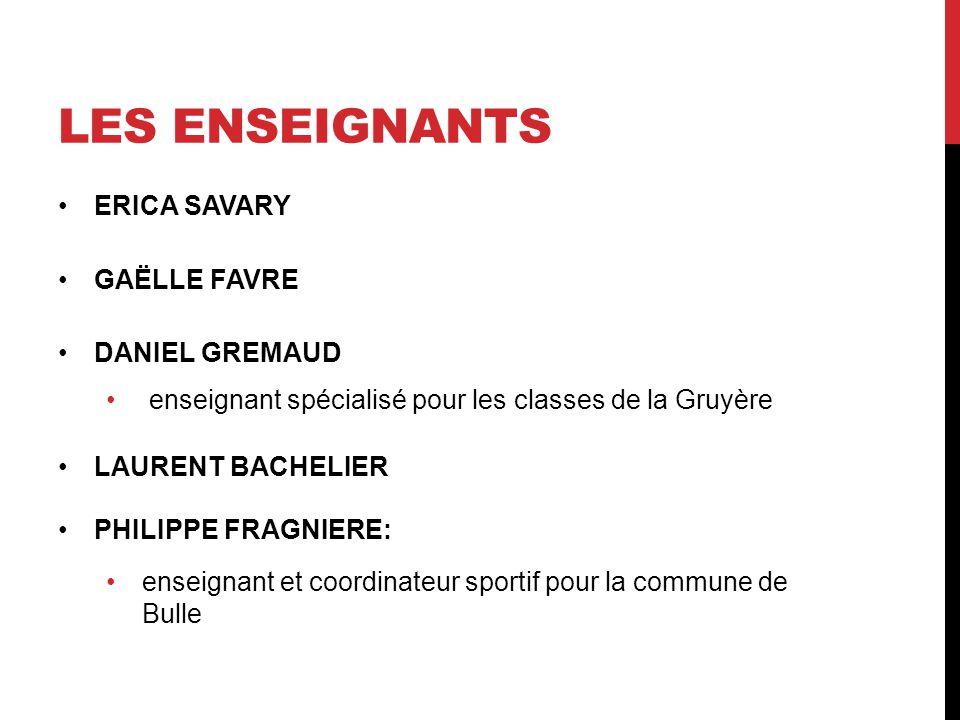 LES Enseignants ERICA SAVARY GAËLLE FAVRE DANIEL GREMAUD