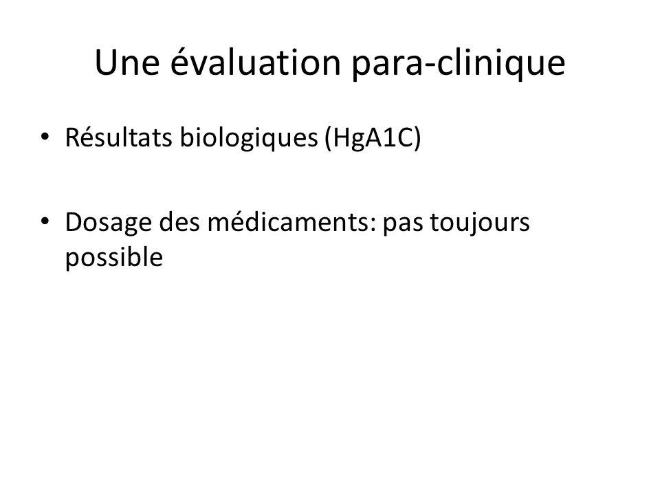 Une évaluation para-clinique