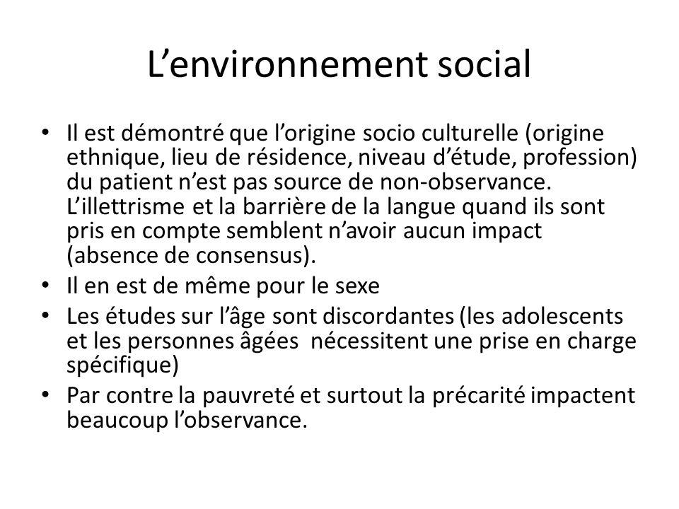 L'environnement social