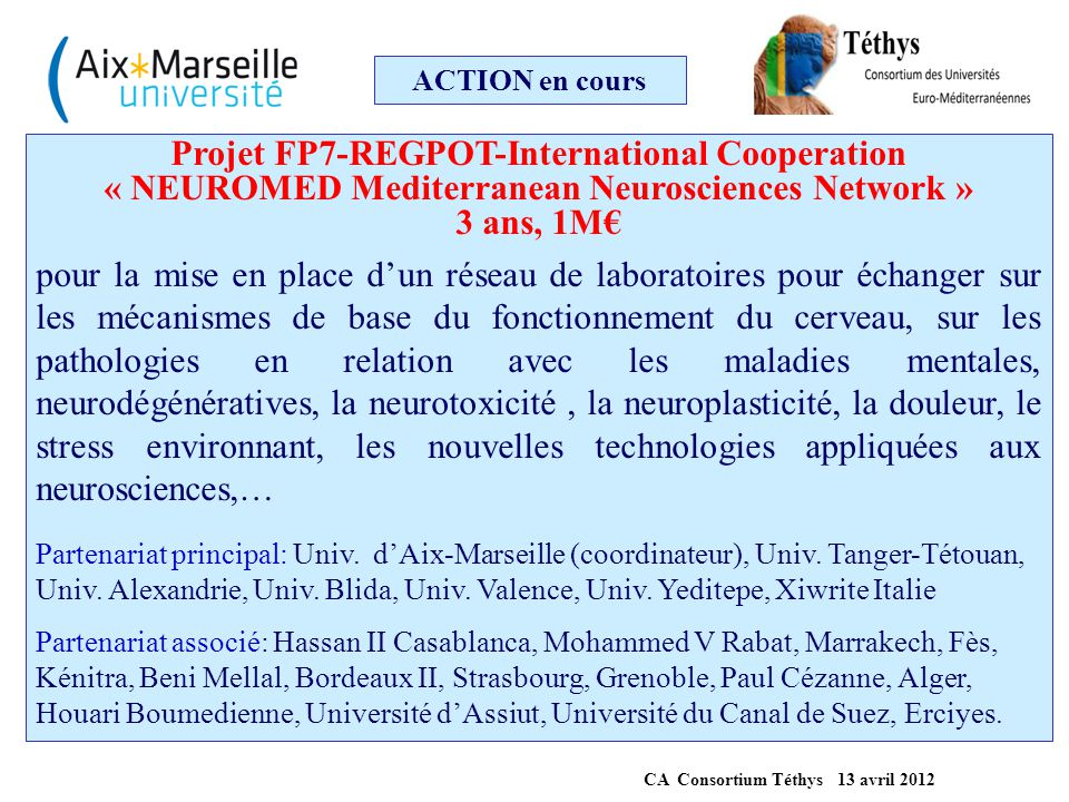 Projet FP7-REGPOT-International Cooperation