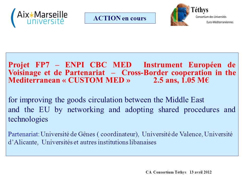 CA Consortium Téthys 13 avril 2012