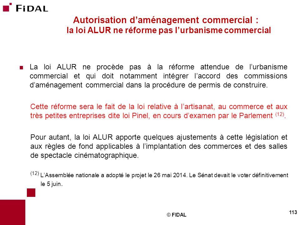 Autorisation d'aménagement commercial : la loi ALUR ne réforme pas l'urbanisme commercial