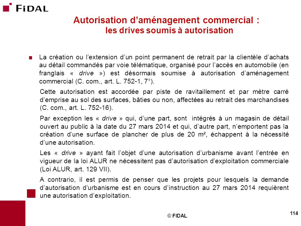 Autorisation d'aménagement commercial : les drives soumis à autorisation