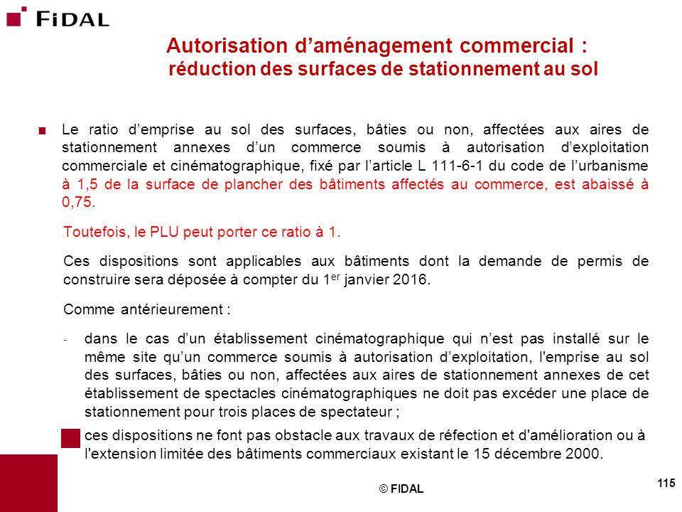 Autorisation d'aménagement commercial : réduction des surfaces de stationnement au sol