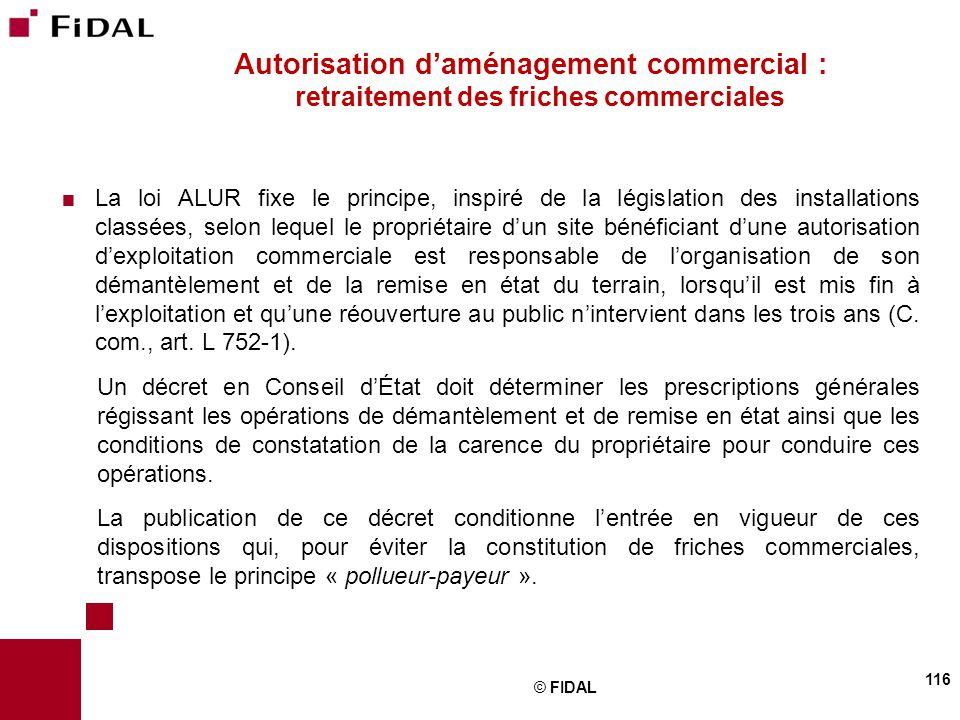 Autorisation d'aménagement commercial : retraitement des friches commerciales