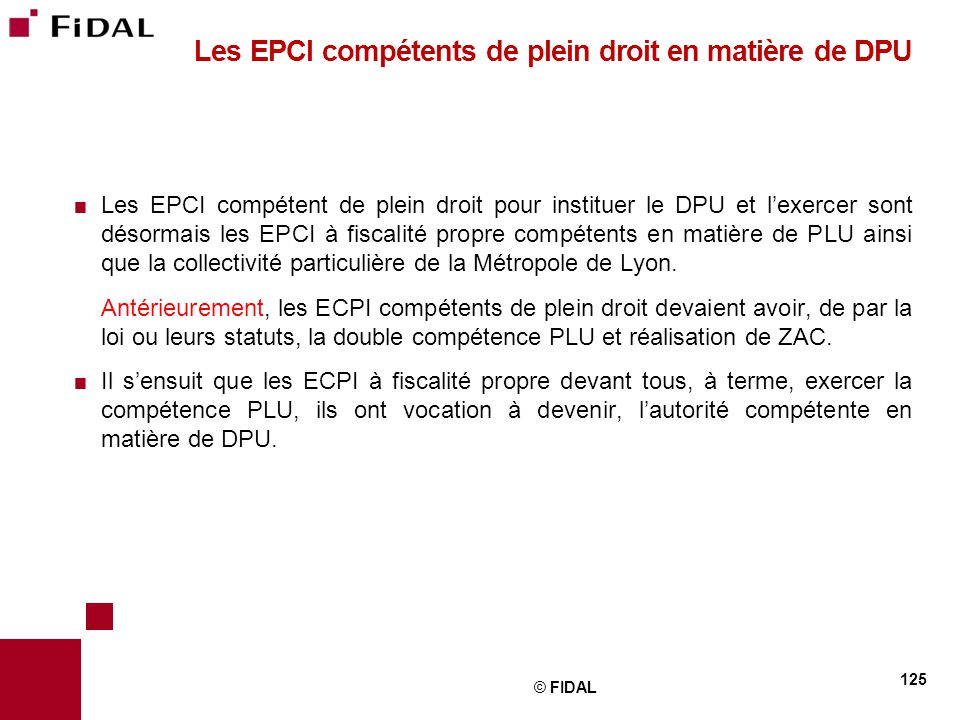 Les EPCI compétents de plein droit en matière de DPU