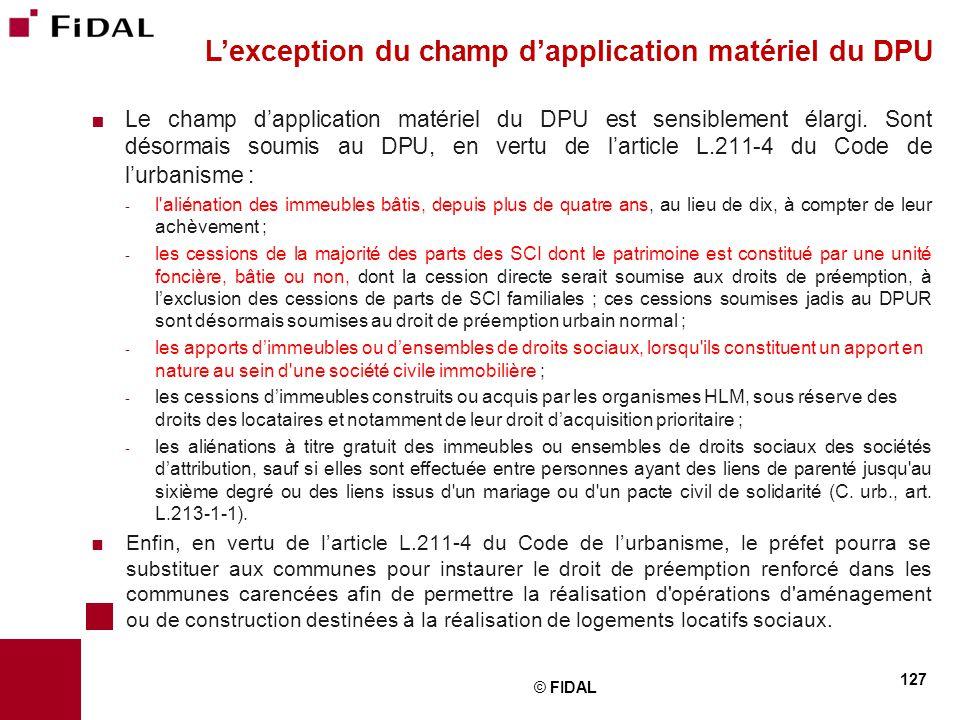 L'exception du champ d'application matériel du DPU