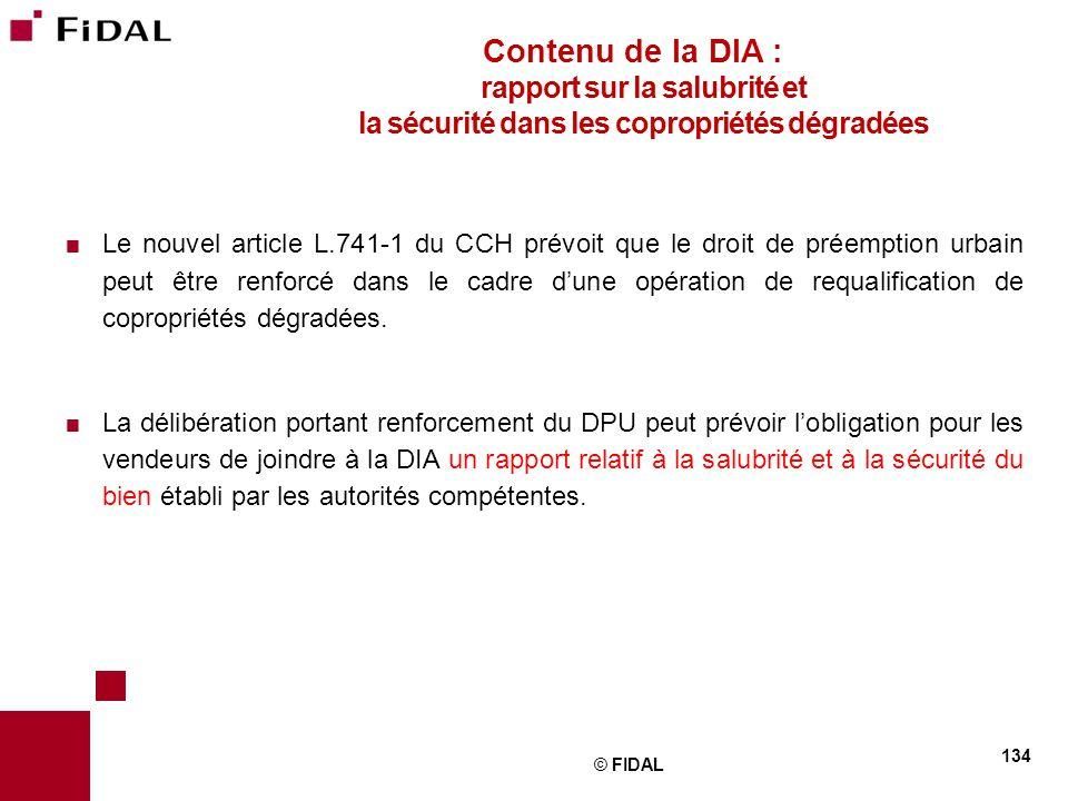 Contenu de la DIA : rapport sur la salubrité et la sécurité dans les copropriétés dégradées