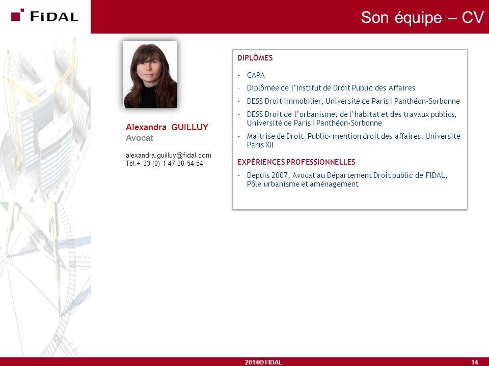 Son équipe – CV Alexandra GUILLUY Avocat DIPLÔMES CAPA