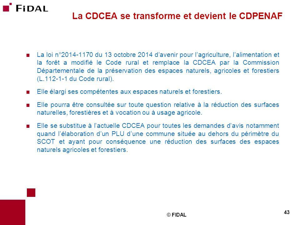La cdcea se transforme et devient le CDPENAF