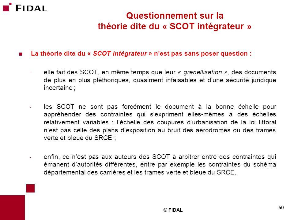 Questionnement sur la théorie dite du « SCOT intégrateur »