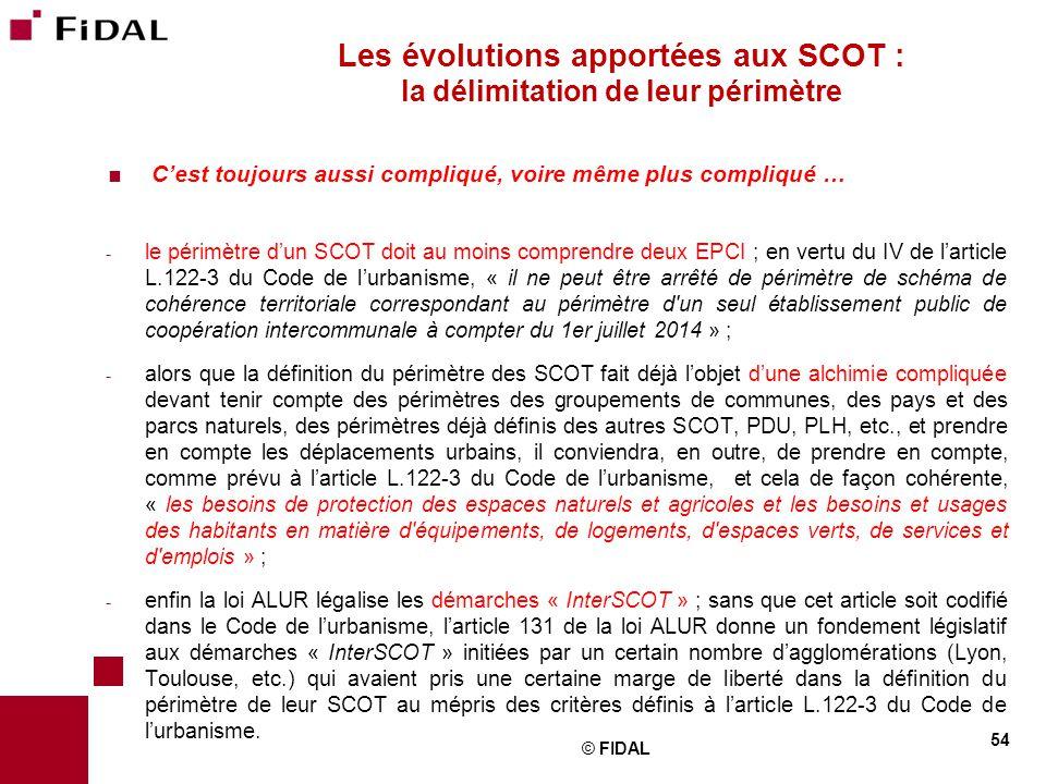 Les évolutions apportées aux SCOT : la délimitation de leur périmètre