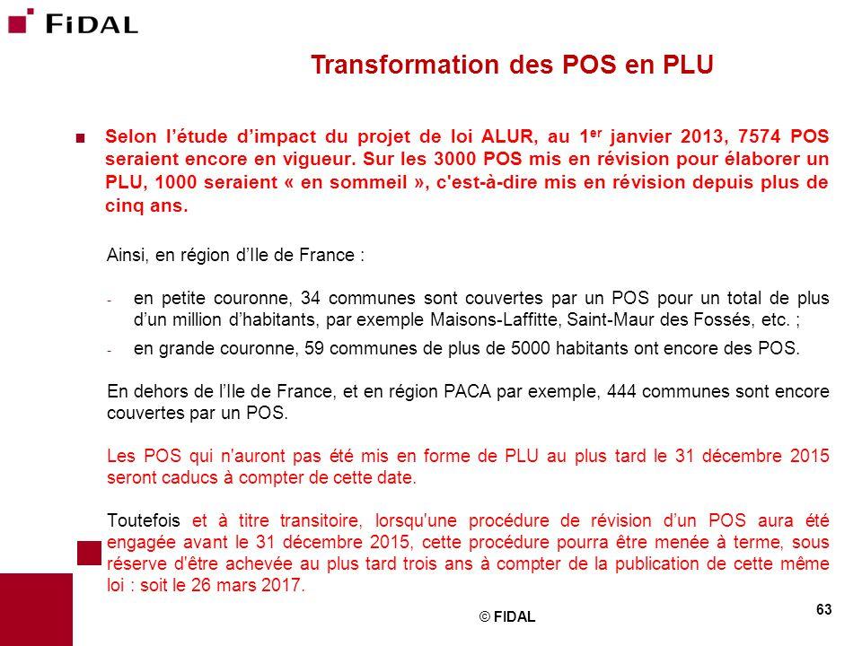 Transformation des POS en PLU