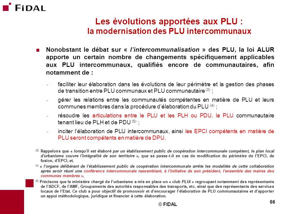 Les évolutions apportées aux PLU : la modernisation des PLU intercommunaux