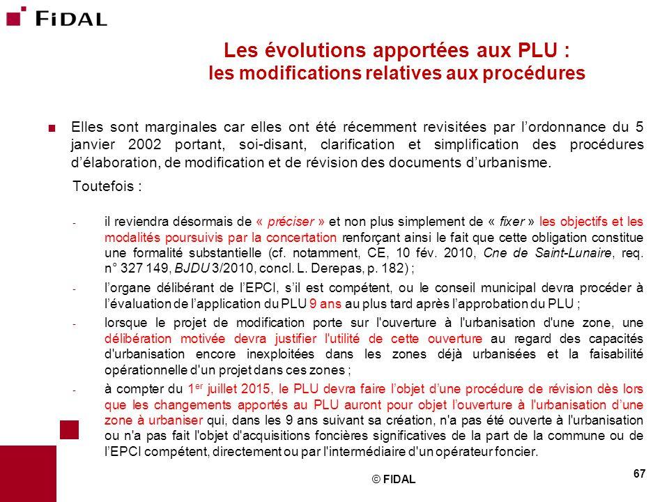 Les évolutions apportées aux PLU : les modifications relatives aux procédures