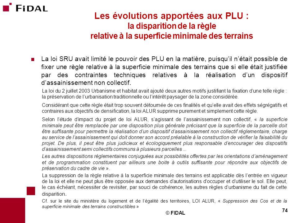 Les évolutions apportées aux PLU : la disparition de la règle relative à la superficie minimale des terrains