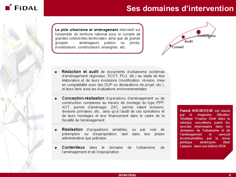 Ses domaines d'intervention