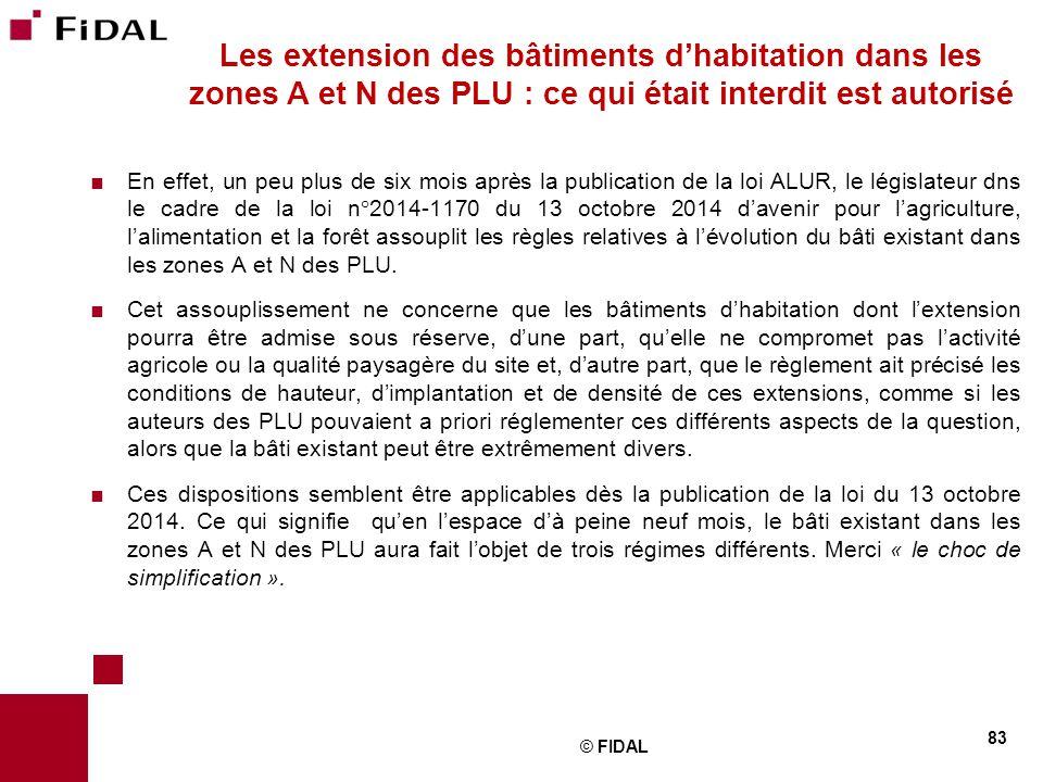 Les extension des bâtiments d'habitation dans les zones A et N des PLU : ce qui était interdit est autorisé