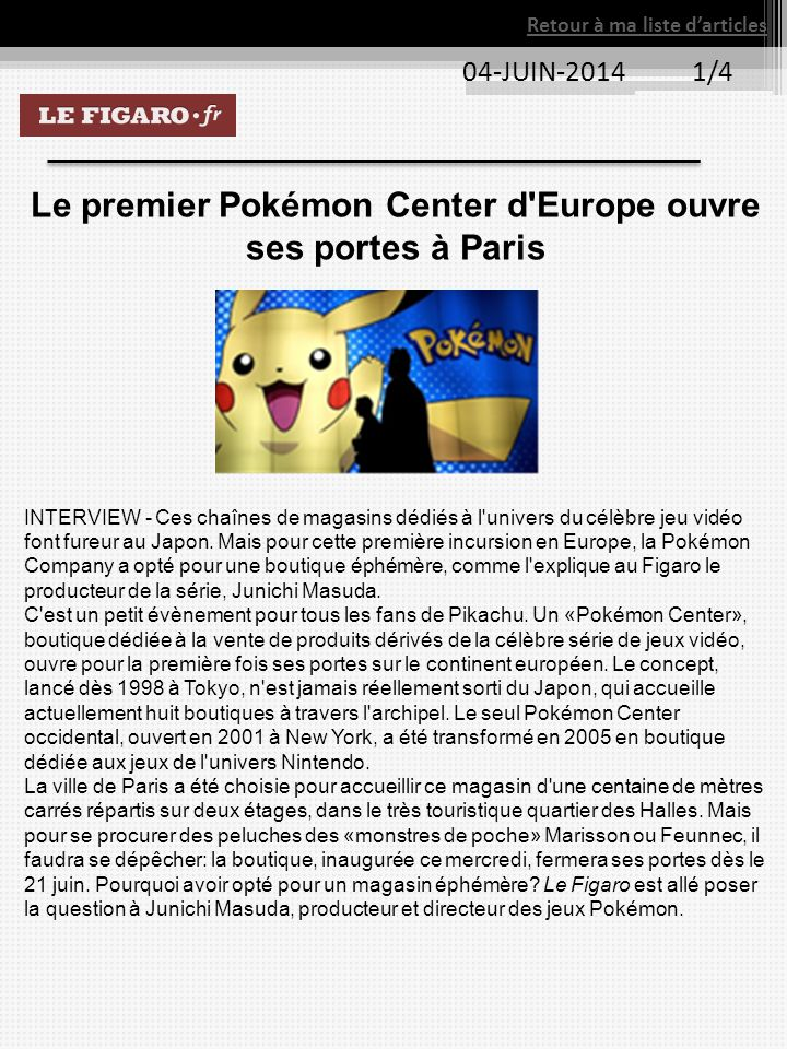 Le premier Pokémon Center d Europe ouvre ses portes à Paris