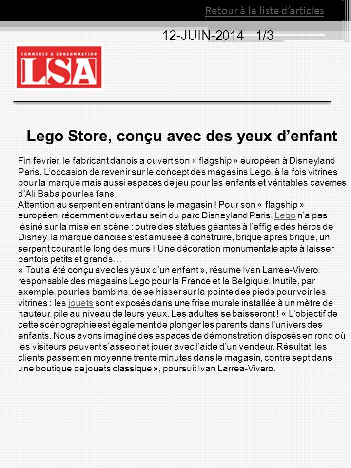 Lego Store, conçu avec des yeux d'enfant