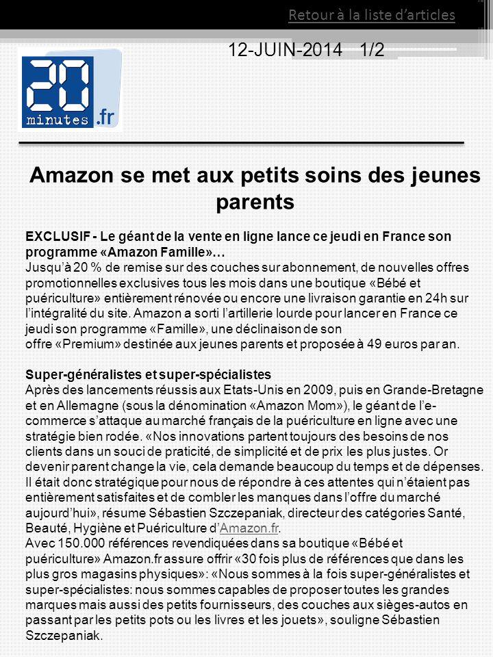 Amazon se met aux petits soins des jeunes parents