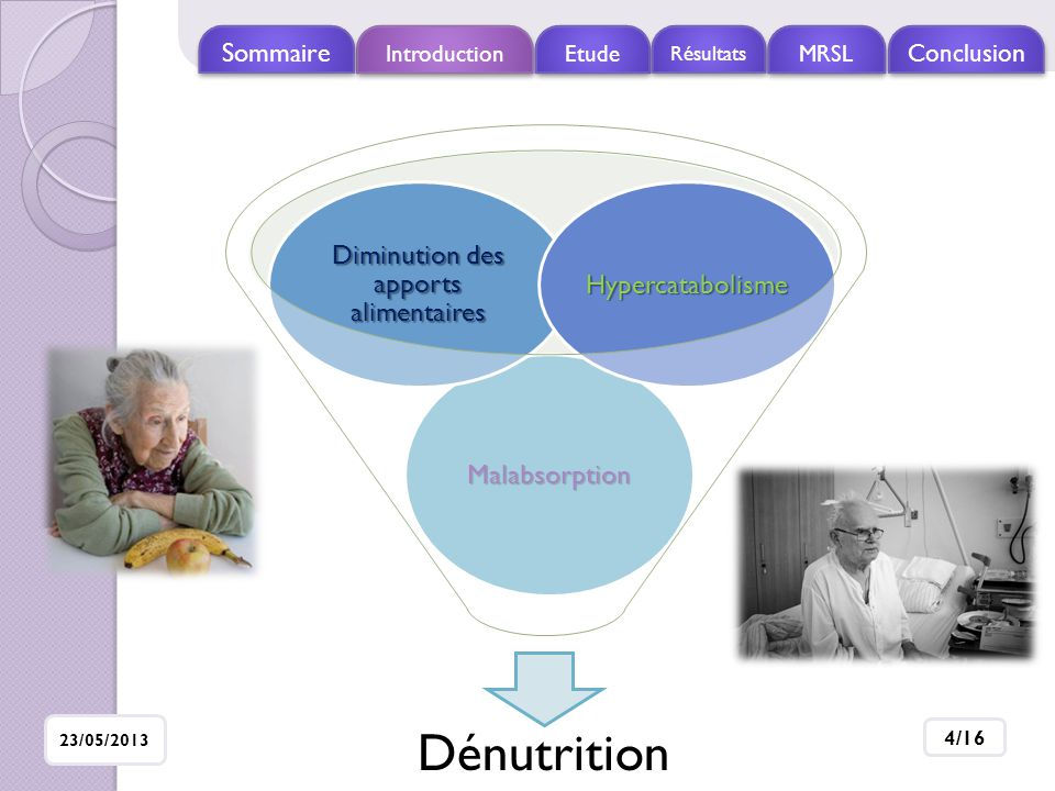 Diminution des apports alimentaires