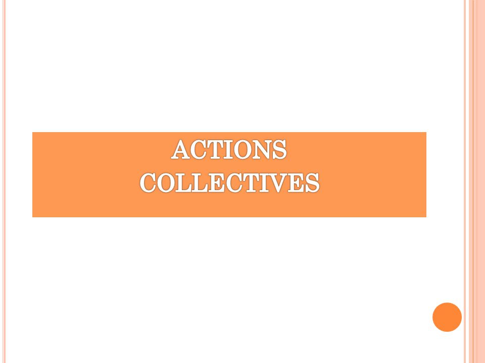 ACTIONS COLLECTIVES