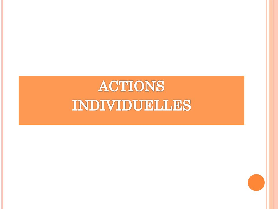 ACTIONS INDIVIDUELLES